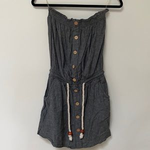 Derek Heart Strapless dress / coverup